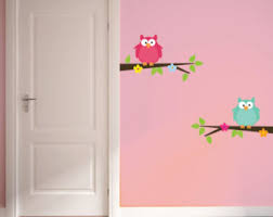 Owl Bedroom Wall Stickers by Owl Nursery Decal Etsy
