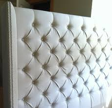 White King Headboard Upholstered by Bedroom Elegant Tufted White Headboard Which Combined With