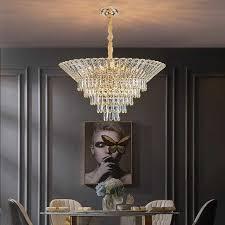 neue wohnzimmer kristall kronleuchter luxus moderne esszimmer le schlafzimmer villa dekoration le kristall le