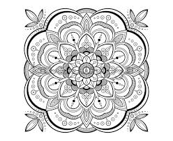 Printable Adult Coloring Book Page PDF Mandala Meditation Art Design