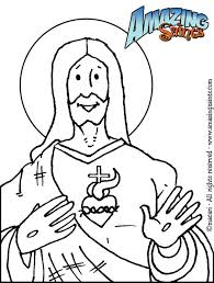 Sacred Heart Jesus Coloring Page
