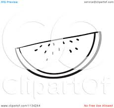 A Black And White Watermelon Slice Royalty Free Vector Clipart A3wjox Clipart