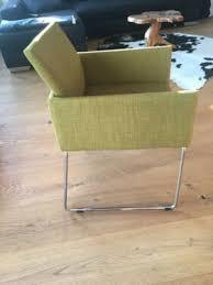 2 design stühle grün strukturstoff chromgestell in baden