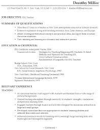 Curriculum Vitae For Teaching Job