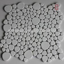 unglazed white shape ceramic mosaic tile for washroom buy