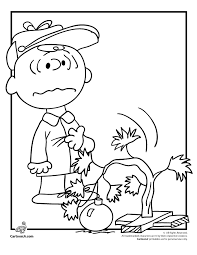 A Charlie Brown Christmas Coloring Pages And His Drooping Tree Page