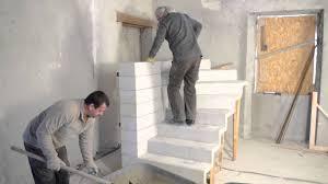 monter un escalier béton quart tournant en kit tuto brico