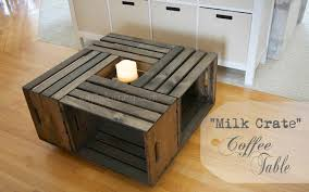 Noble Building A Coffee Table Joy Journey In Wooden Milk Crates