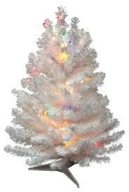 pre lit snow artificial tree multi color lights white