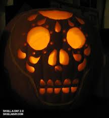 Sugar Skull Pumpkin Carving Patterns by December 2008