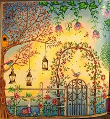 The Secret Garden Coloring Book CLOSE UP Of Right Side Gazebo Two Page Spread