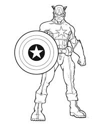 Captain America Free Coloring Pages 1