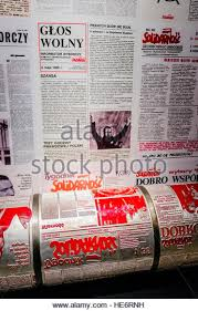 Printing Press Producing The Illegal Solidarity Newspaper In European Centre Gdansk