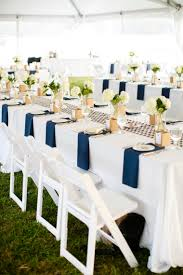 Modern Rustic Navy White Farm Wedding Via TheELD