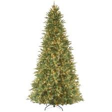 Slimline Christmas Trees With Lights by National Tree Company 12 Ft Feel Real Tiffany Fir Slim Hinged