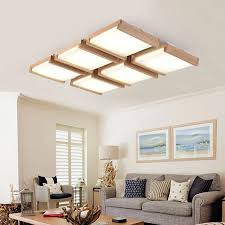 holz rechteckigen decke licht wohnzimmer holz log len solide restaurant licht einfache moderne halle holz decke len mz79