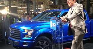 100 Aluminum Ford Truck First Aluminumbodied F150 Rolls Off Assembly Line