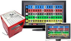 Digital Bingo Flashboard And Professional Table Top Blower