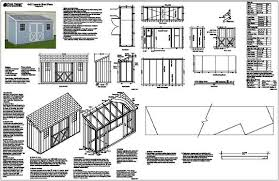 4 x12 slant lean to style shed plans see sles ebay lean to