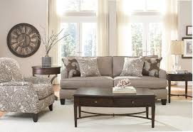 neutral and paisley living room transitional living room