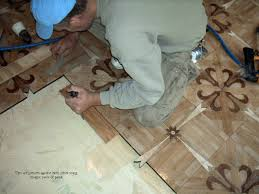 Tiles Pushed Together To Minimize Gaps Unfinished Steps For Parquet Flooring Installation