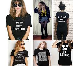 Online Shop Harajuku 2017 T Shirt Women Tops Hip Hop Cute But Psycho Letter Print Tee Femme Tumblr Fashion Clothes Cotton Tees