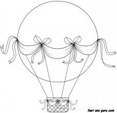 Print Out Hot Air Balloon Coloring In Sheets