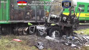 100 Fatal Truck Accidents Deadly Traintruck Accident And Aftermath In Hungary YouTube