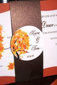 Image Of Unique Fall Wedding Invitations