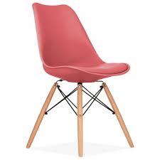 Eames Sofa Compact Uk by Watermelon Soft Pad Dining Chair With Dsw Style Wood Legs Cult Uk