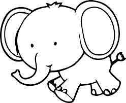 Download Coloring Pages Elephant Page Very Cute Small Wecoloringpage