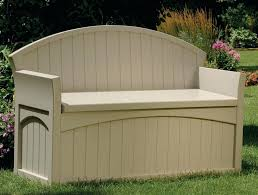 Suncast Patio Storage Box by Outdoor Cushion Storage Bench Build A Storage Bench Suncast