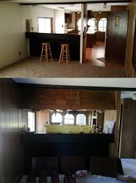 Manufactured Home Makeover Looking Into Kitchen