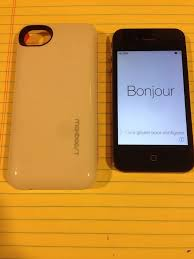 Apple iPhone 4 Model a1332 EMC 3808 and battery case