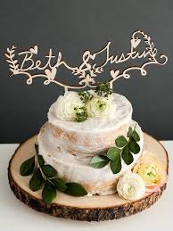 Custom Rustic Floral Wedding Cake Topper