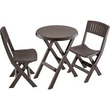 Rimax Espresso Brown 3-Piece Plastic Folding Patio Outdoor ... 2019 Bistro Ding Chair Pe Plastic Woven Rattan 3 Piece Wicker Patio Set In Outdoor Garden Grey Fix Chairs Conservatory Clearance Small Indoor Simple White Cafe Charming Round Green Garden Table Luxury Resin China Giantex 3pcs Fniture Storage W Cushion New Outdo D 3piece For Balcony And Pub Alinum Frame Dark Brown Restaurant Astonishing Modern Design Long Dwtzusnl Sl Stupendous Metalatio Fabulous Home Tms For 4