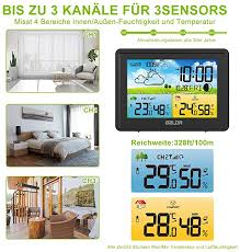 baldr wireless weather station with outdoor sensor indoor