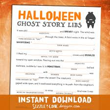 Free Printable Halloween Potluck Signup Sheet by Scary Halloween Mad Lib For Adults Teens U0026 Kids Ghost Story