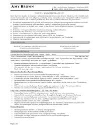 administrative professional resume profile best of admin resume
