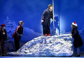 Flagpole Christmas Tree by A Christmas Story The Musical U2013 Theatre Review National Touring