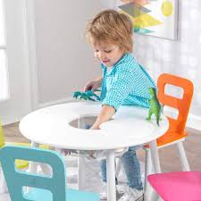 Amazon.com - KidKraft Round Storage Table And 4 Chair Set ... Kidkraft Farmhouse Table And Chair Set Natural Amazonca Toys Nantucket Kids 5 Piece Writing Reviews Cheap Kid Wood And Find Kidkraft 21451 Wooden 49 Similar Items Little Cooks Work Station Kitchen By Jure Round Ding Vida Co Zanui Photos Black Chairs Gopilatesinfo Storage 4 Hlighter Walmartcom Childrens Sets Webnuggetzcom Four Multicolored