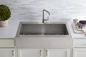 Kohler Riverby Top Mount Sink by Farmhouse Fast Fix Kohler Adds Top Mount Self Trimming Apron
