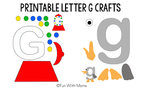 letter g crafts template Fun with Mama