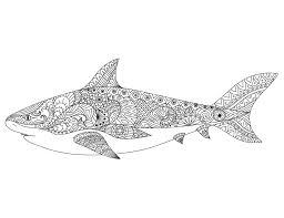 dessin pour imprimer dessin pour adulte antistress requin à imprimer artherapie ca