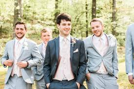 Groom And Groomsmen Wedding Day Spring Blush Ivory