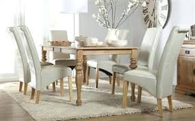 Decoration Oak Extending Dining Table With 8 Ivory Chairs Kitchen Room Ideas Uk