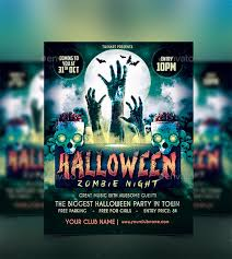 Free Halloween Flyer Templates by 21 Zombie Flyer Templates Free Psd Eps Ai Indesign Word