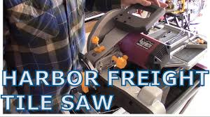 Harbor Freight Electric Tile Cutter by Harbor Frieght Tile Saw Unboxing And Assembly Youtube