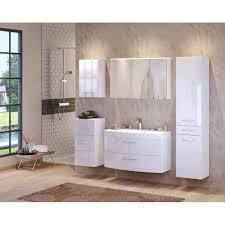 badmöbel set florida mit waschtisch 6 teilig 180 cm breit hochglanz weiß