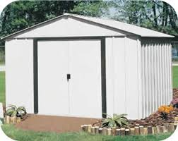 Arrow Shed Door Assembly by Arlington 10x12 Arrow Metal Storage Shed Kit Ar1012